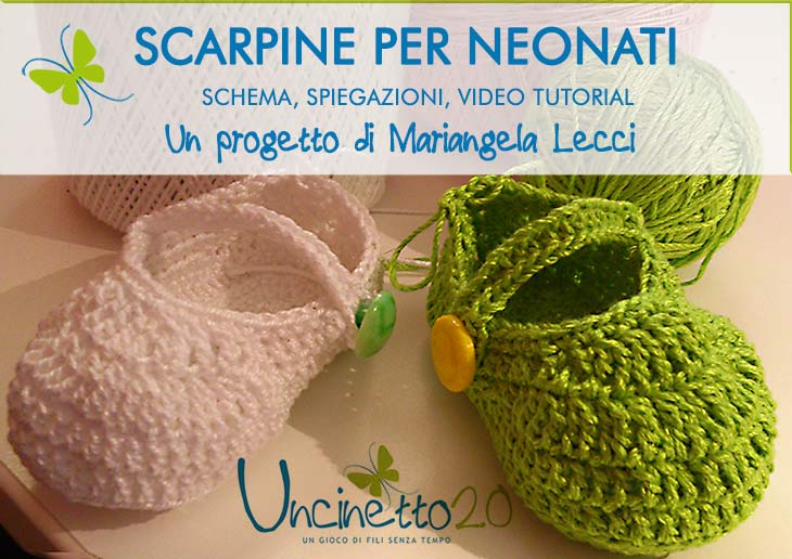 Super Tutorial scarpine baby all'uncinetto - Uncinetto 2.0 HR93