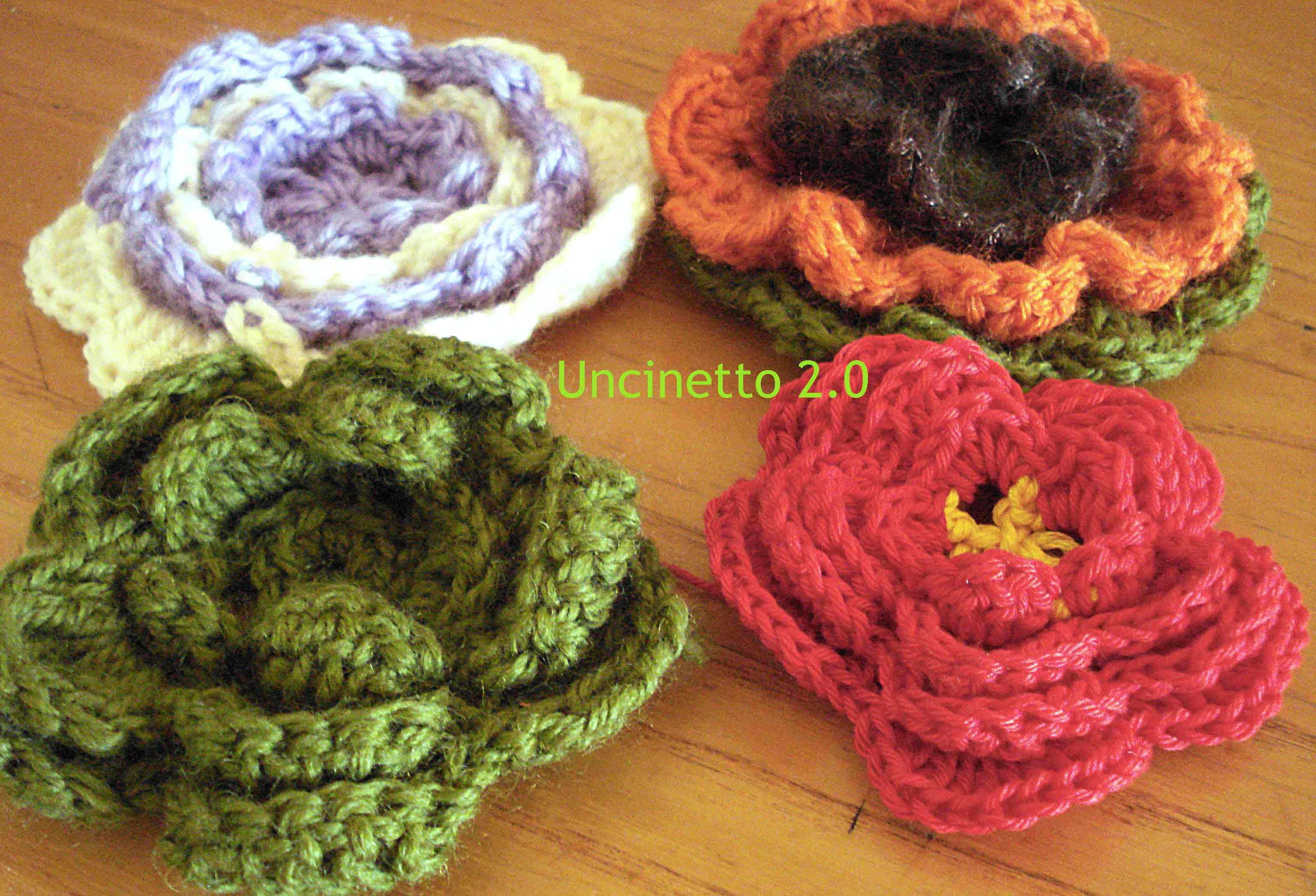 Come fare mattonella a uncinetto con fiore fatto con telaio tutorial